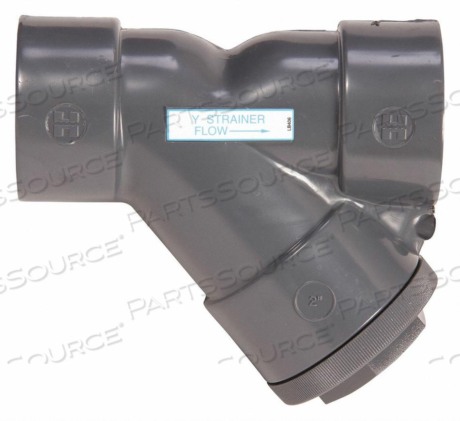 Y STRAINER PVC 1-1/2 THREADED by Hayward