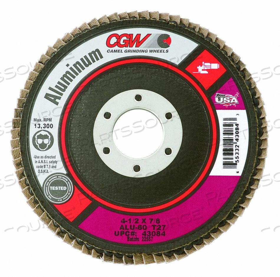 FLAP DISC ALUM T27 60 GRIT by CGW Abrasives