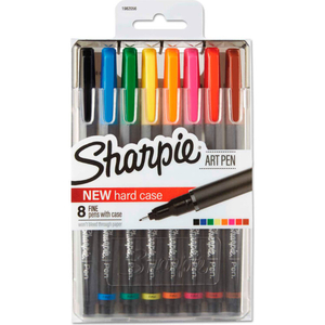 ART PEN WITH HARD CASE - FINE POINT - 8 PACK by Sharpie