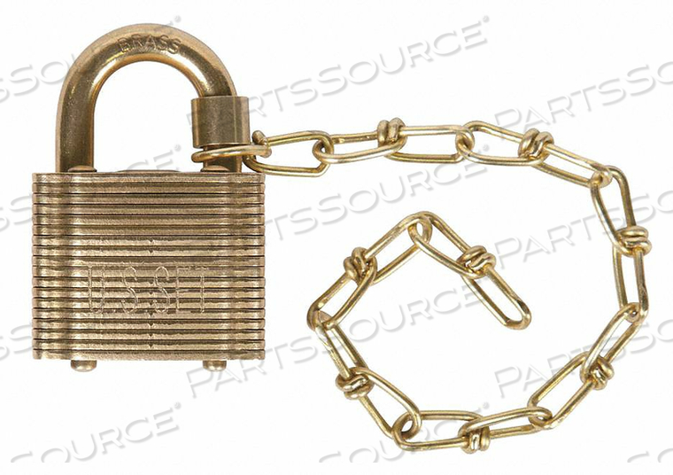 KEYED PADLOCK 3/4 IN SQUARE GOLD PK5 by Abus