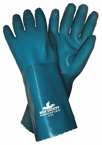 CHEMICAL GLOVES L 14 IN L BLUE PR by MCR Safety