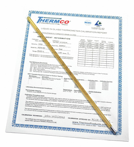 CERT -55 -53.9 0C  ASTM74C by THERMCO PRODUCTS, INC.
