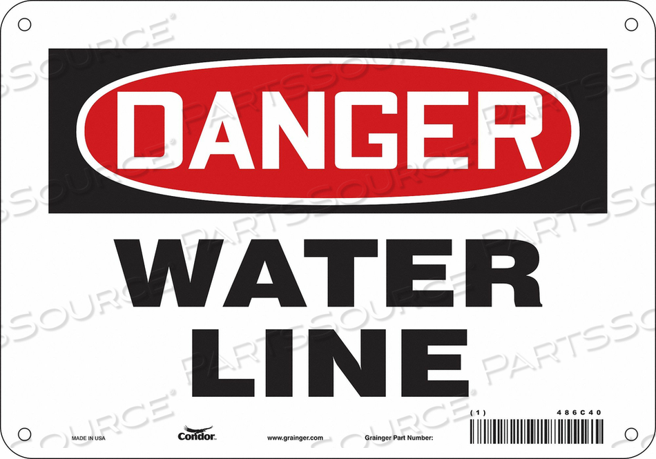CHEMICAL SIGN 10 W 7 H 0.032 THICKNESS by Condor