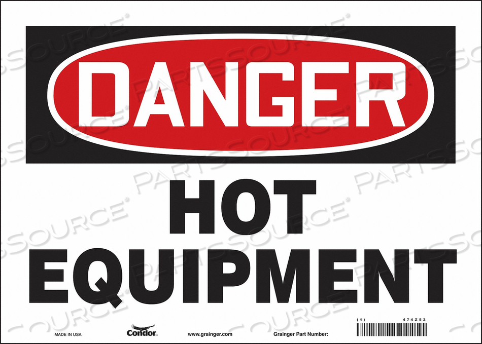 DANGER SIGN 14 W X 10 H 0.004 THICK by Condor