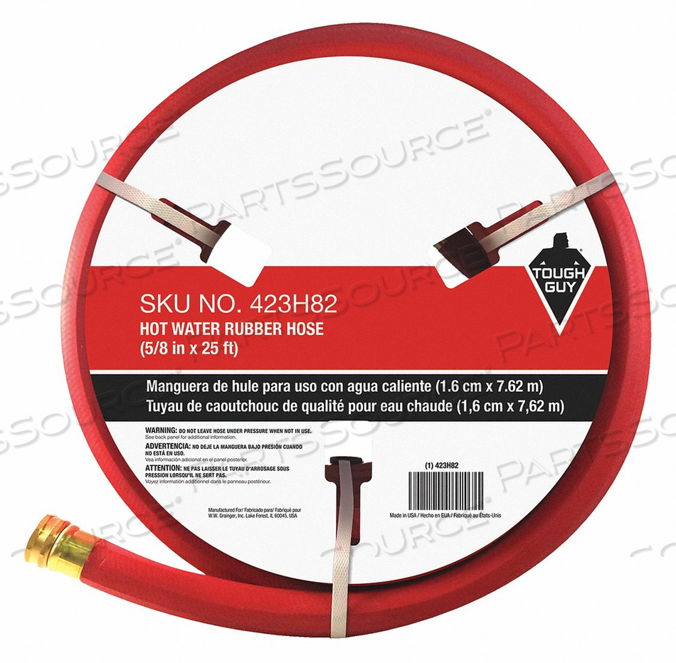 WATER HOSE 5/8 I.D.25 FT. RUBBER by Tough Guy