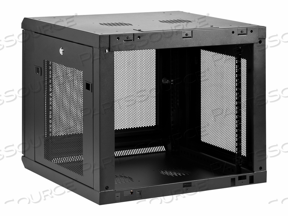 STARTECH.COM 9U WALL-MOUNT SERVER RACK CABINET - UP TO 20.8 IN. DEEP - RACK ENCLOSURE CABINET - WALL MOUNTABLE - BLACK - 9U by StarTech.com Ltd.
