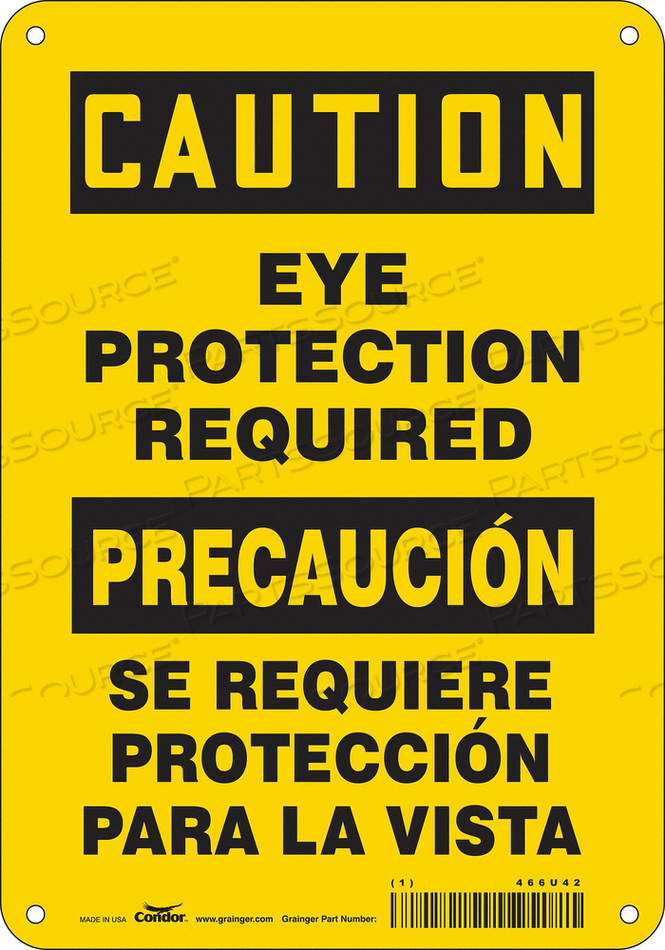 K2001 SAFETY SIGN 7 W 10 H 0.055 THICKNESS by Condor