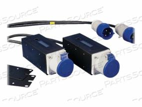 PANDUIT SMARTZONE GATEWAY-ENABLED ZERO-RU INLINE METER - POWER MONITORING UNIT (RACK-MOUNTABLE) - AC 230/400 V - 1-PHASE - RS-485 - OUTPUT CONNECTORS: 1 - 0U - BLACK, RAL 9005
