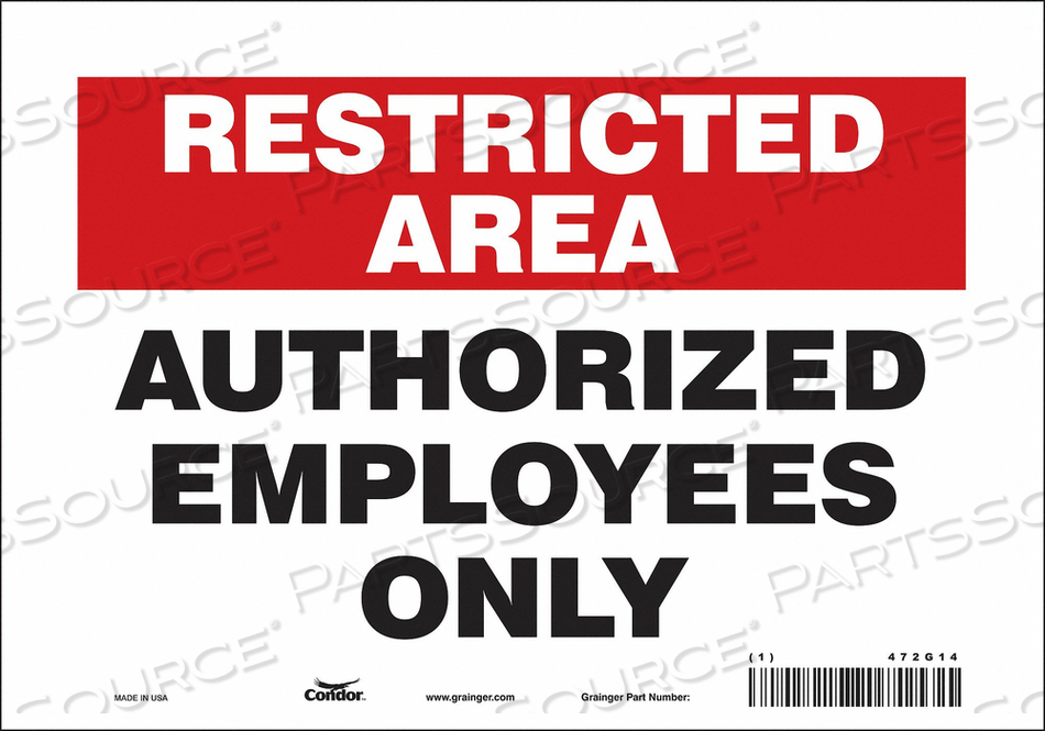 J7024 SAFETY SIGN 10 W 7 H 0.004 THICKNESS by Condor