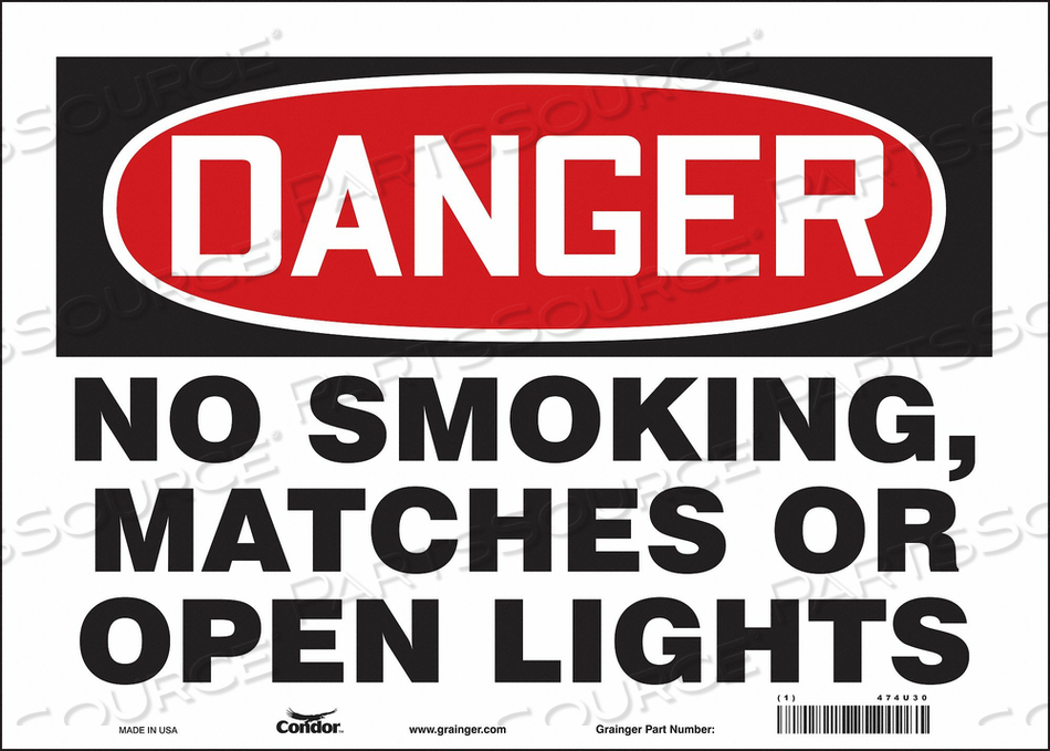 J6939 SAFETY SIGN 14 W 10 H 0.004 THICKNESS by Condor