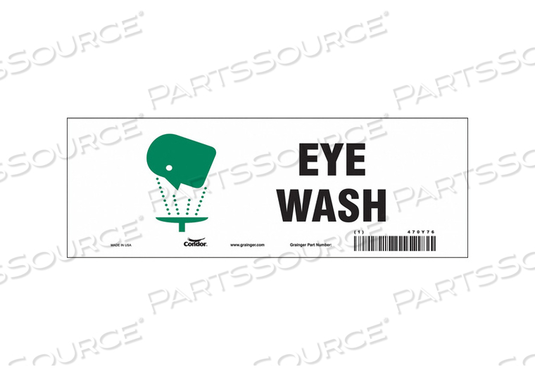 SAFETY SIGN 10 W X 3-1/2 H PK10 by Condor