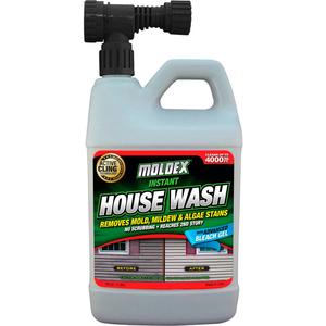 INSTANT HOUSE WASH, 56 OZ. HOSE END SPRAY BOTTLE by Moldex