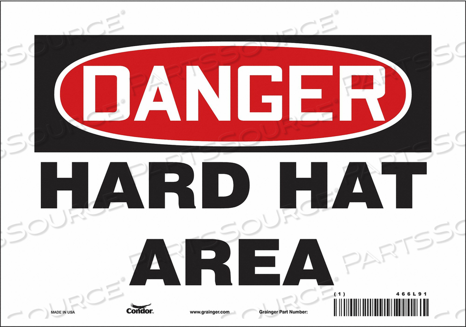 J6929 SAFETY SIGN PERSONAL PROTECTION 7 H by Condor