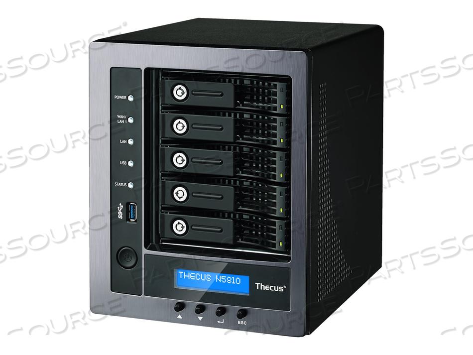 THECUS TECHNOLOGY N5810 - NAS SERVER - 5 BAYS - SATA 6GB/S - RAID 0, 1, 5, 6, 10, JBOD - RAM 4 GB - GIGABIT ETHERNET - ISCSI by Sharp Electronics Corporation