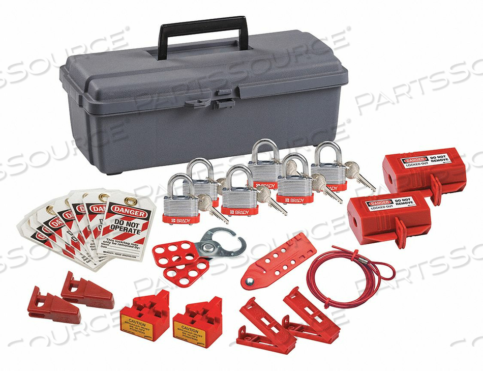 PORTABLE LOCKOUT KIT GRAY 7-1/2 H by Condor