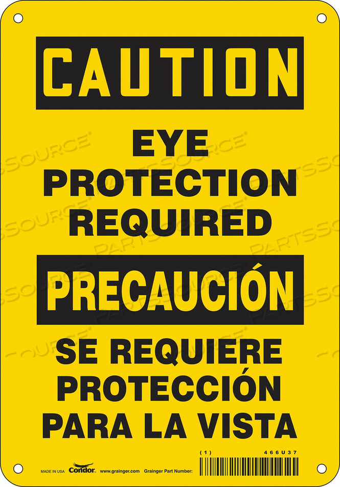 K2001 SAFETY SIGN 7 W 10 H 0.032 THICKNESS by Condor