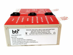 BTI - UPS BATTERY - 1 X LEAD ACID  7.2 AH - FOR APC BACK-UPS PRO 1000, RS 1000 by Battery Technology