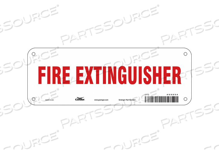 SAFETY SIGN 10 W 3-1/2 H 0.055 THICK by Condor