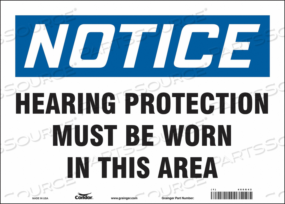 J6996 SAFETY SIGN 14 W 10 H 0.004 THICKNESS by Condor