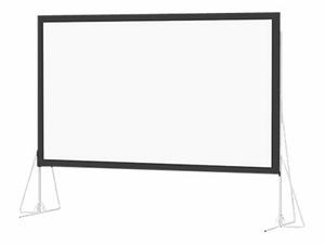 DA-LITE HEAVY DUTY FAST-FOLD DELUXE SCREEN SYSTEM HDTV FORMAT - PROJECTION SCREEN WITH HEAVY DUTY LEGS - 275 IN (275.2 IN) - 16:9 - DA-MAT by DA-Lite