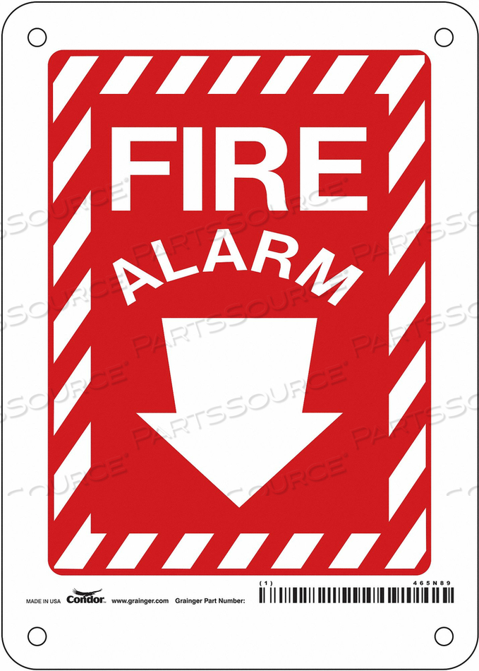 SAFETY SIGN 5 WX14 H 0.070 THICKNESS by Condor