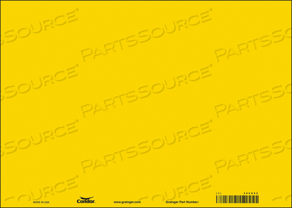 SAFETY SIGN 14 W 10 H 0.040 THICK PK10 by Condor