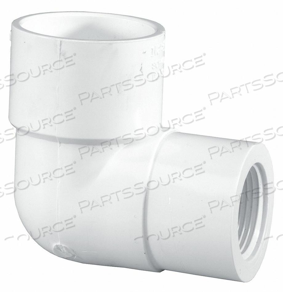 ELBOW 90 DEG PVC 1-1/4 X 1 IN SLIP X FPT by Lasco
