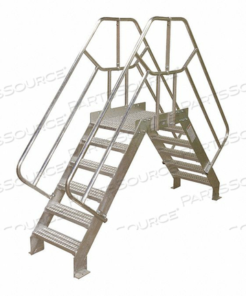 CROSSOVER BRIDGE 4 STEP ALUMINUM 74IN. H by Cotterman