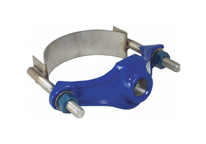 REPAIR CLAMP IRON 6 IN PIPE 2 IN OUT by Smith-Blair