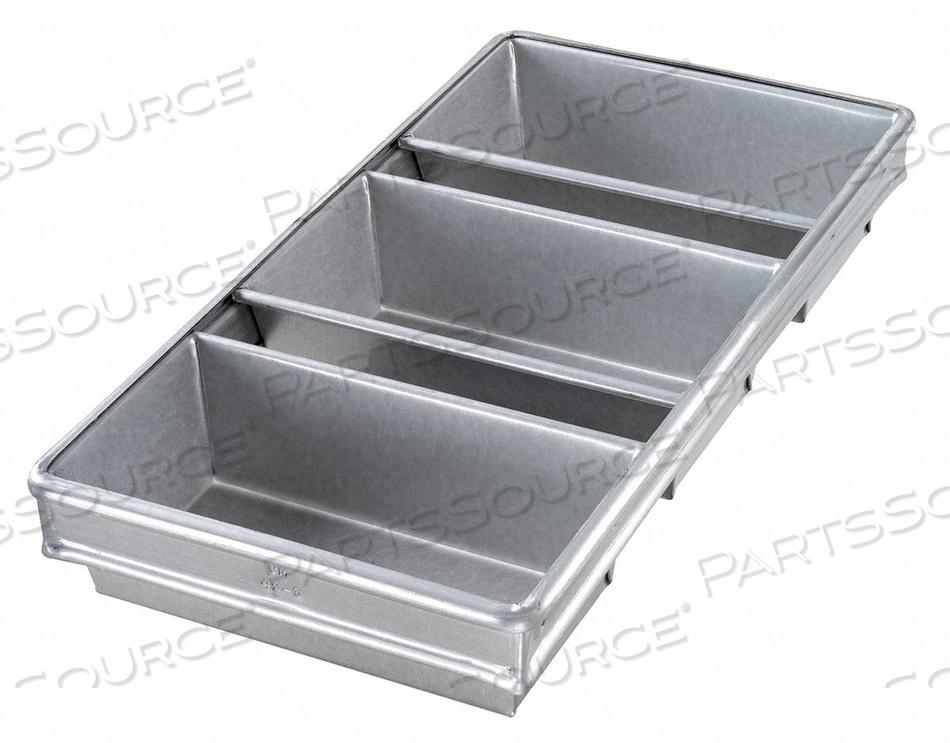 BREAD PAN 3-STRAP 8-1/2X4-1/2 by Chicago Metallic