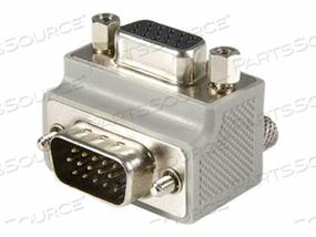 STARTECH.COM RIGHT ANGLE VGA TO VGA CABLE ADAPTER TYPE 1 - M/F - VGA ADAPTER - HD-15 (M) TO HD-15 (F) - GRAY by StarTech.com Ltd.