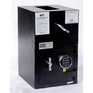 "ROTARY HOPPER DROP SAFE ELECTRONIC LOCK 13""W X 14-1/2""D X 21""H 1.12 CU. FT BLACK by Fire King"