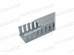 PANDUIT PANDUCT TYPE G WIDE SLOT WIRING DUCT - CABLE RACEWAY - 6 FT - LIGHT GRAY by Panduit