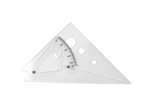 TRIANGLE POLYSTYRENE TRANSPARENT 10IN by Westcott