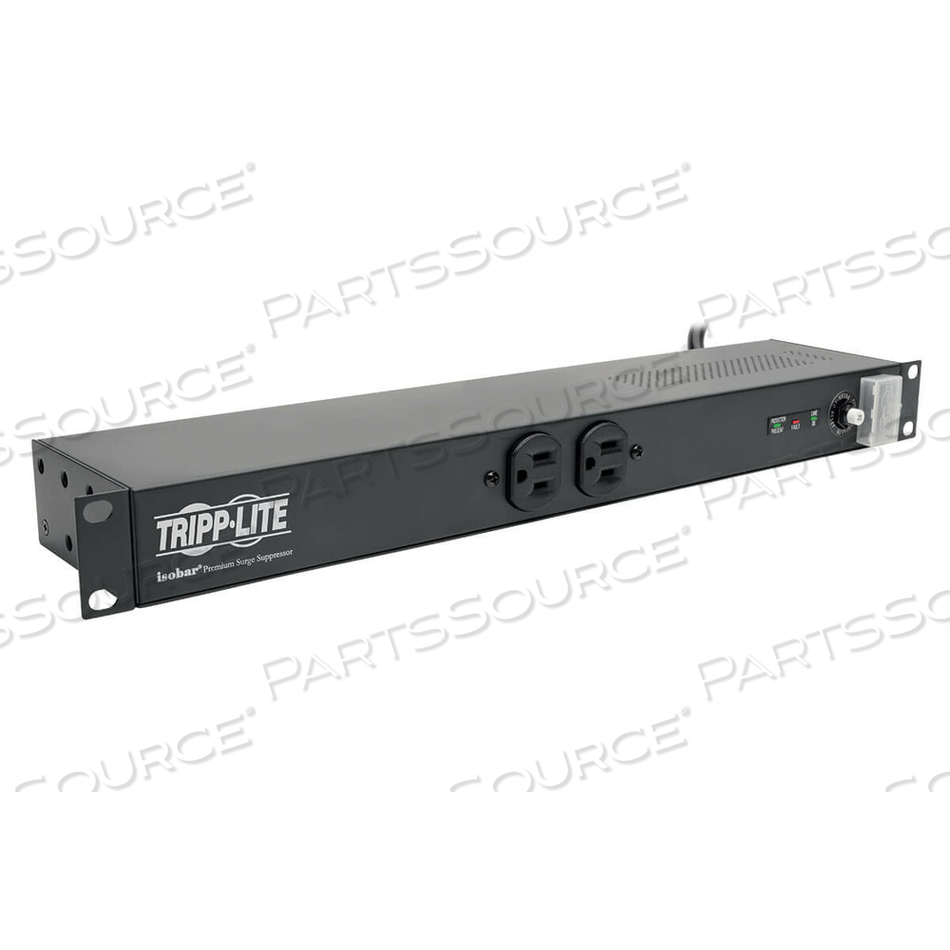 TRIPP LITE ISOBAR SURGE PROTECTOR RACKMOUNT 20A 12 OUTLET 15FT CORD 1URM by Tripp Lite