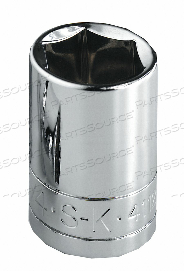 SOCKET 1/4 IN DR 1/2 IN. 12 PT. by SK Professional Tools