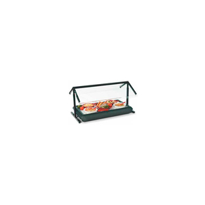 """SNEEZE GUARD, 73-1/4"""" ADJUSTABLE, DOUBLE-SIDED, BLACK by Carlisle"""