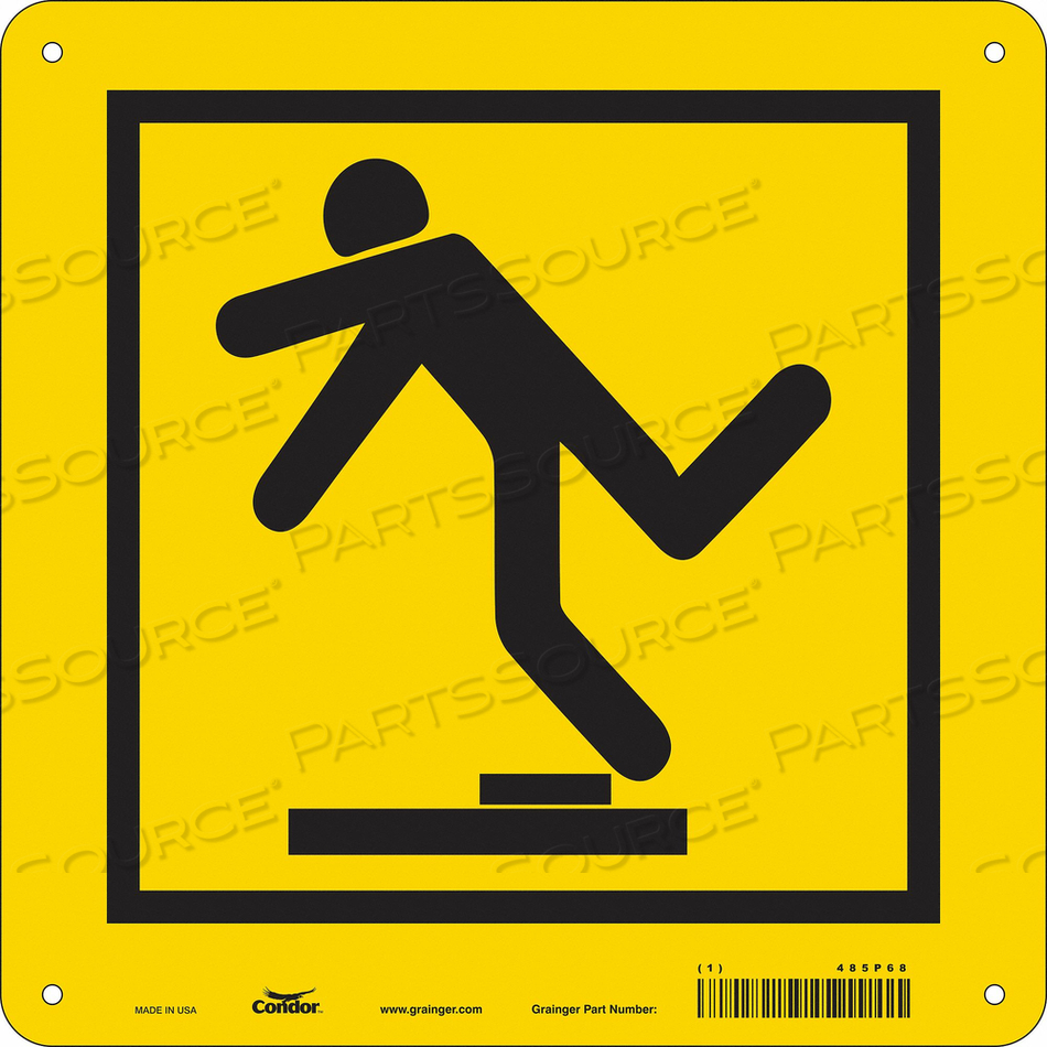 SAFETY SIGN 10 WX10 H 0.060 THICK by Condor