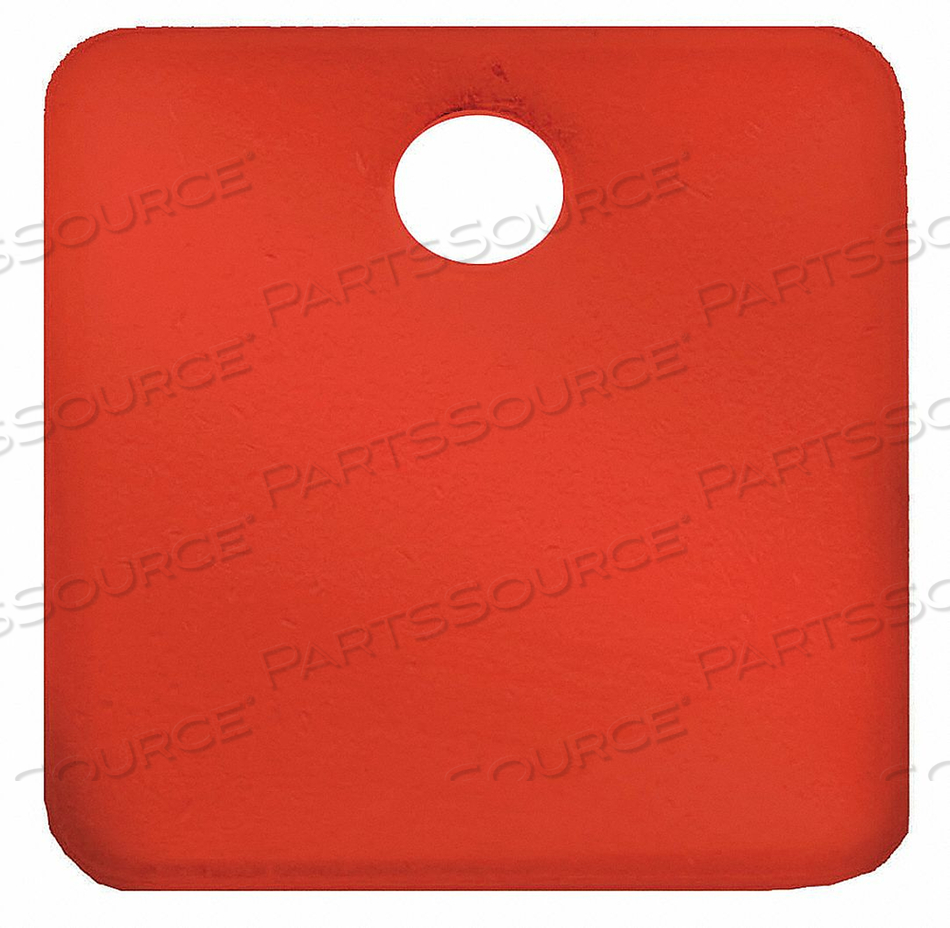 BLANK TAG SQUARE RED PK5 by C.H. Hanson