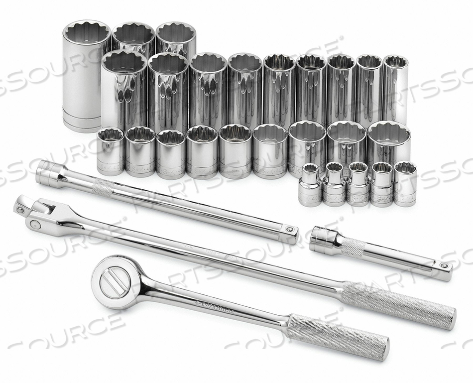 SOCKET WRENCH SET SAE 1/2 IN DR 30 PC by SK Professional Tools