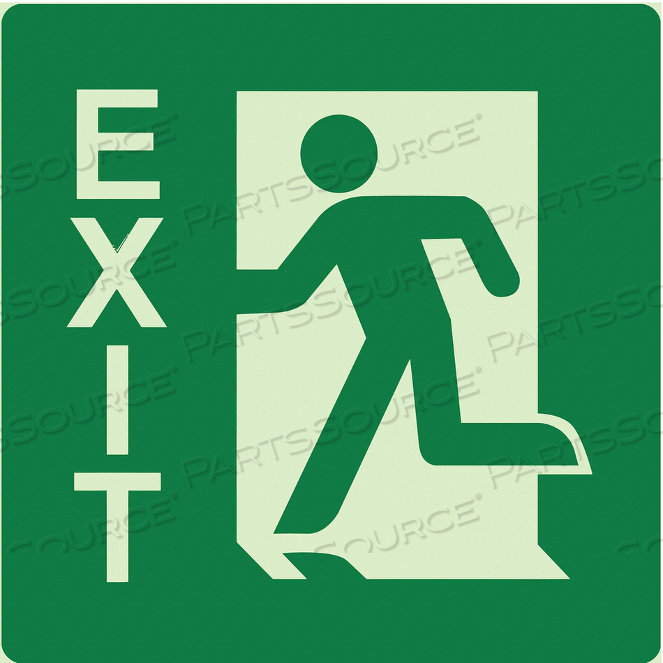 EXIT SIGN 8 W 8 H 0.122 THICK by Ability One