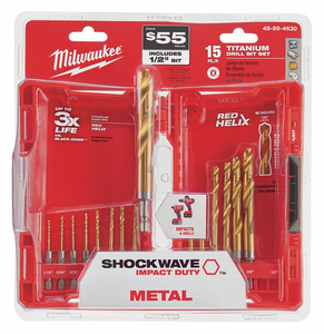 DRILL BIT SET TITANIUM FRACTIONAL INCH by Milwaukee Electric Tools