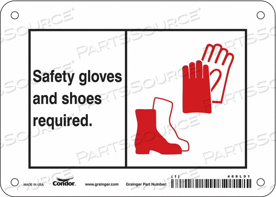 SAFETY SIGN 7 WX5 H 0.055 THICKNESS by Condor