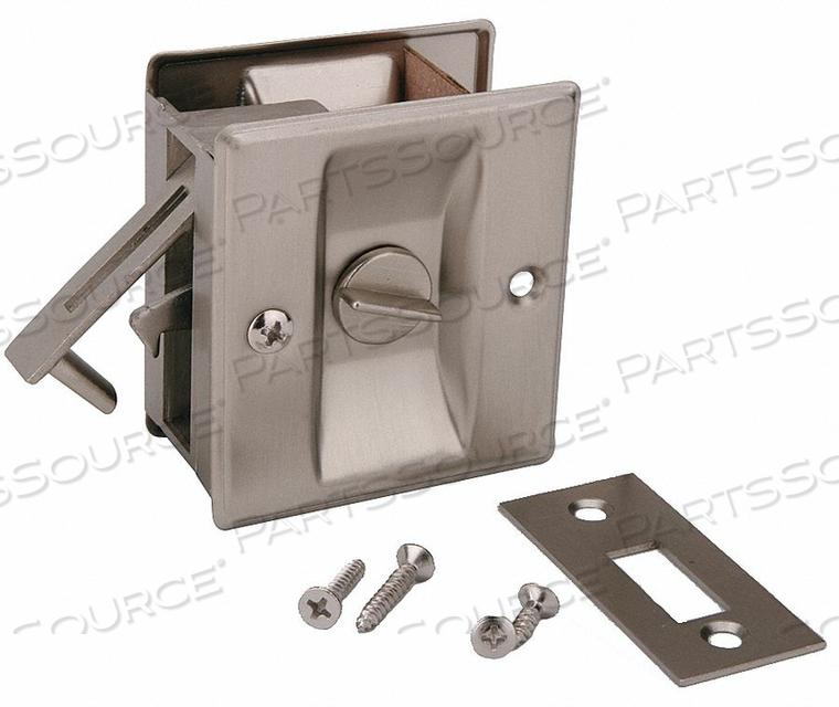 POCKET DOOR PRIVACY LOCK-SATIN NICKEL by John Sterling