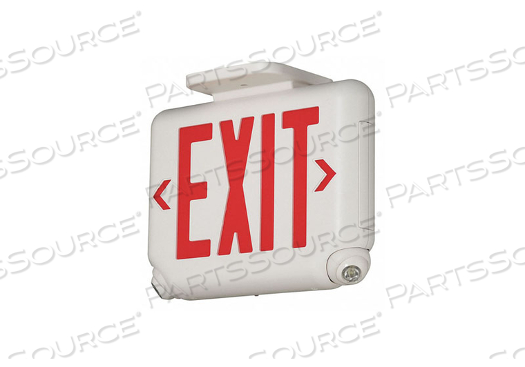 EXIT SIGN W/EMERGENCY LIGHTS LED RED by Hubbell Power Systems