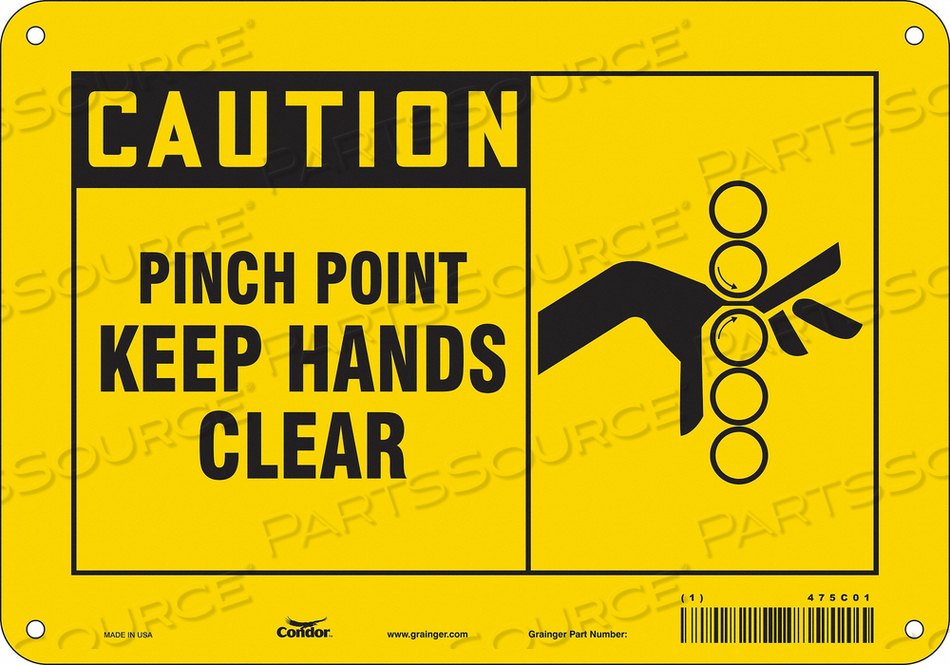 J6966 SAFETY SIGN 10 W 7 H 0.055 THICKNESS by Condor