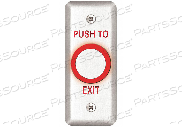 EXIT PUSH BUTTON 1-3/4 IN W by SDC