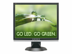 LED DESKTOP MONITOR, 1000:1 CONTRAST, 19 IN VIEWABLE IMAGE, 1280 X 1024, 18 W, 5 MS RESPONSE, 32 TO 104 DEG F, 195 MM X 434.9 MM X 412.2 MM, 3.5  by ViewSonic