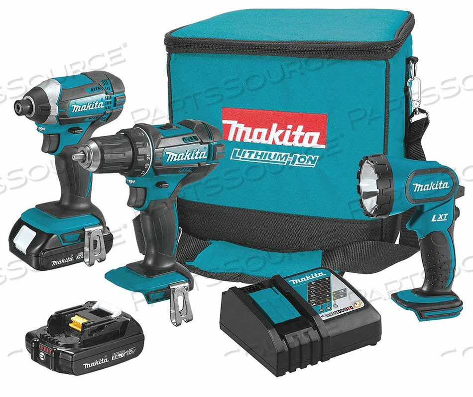 CORDLESS COMBINATION KIT 18V 3 TOOLS by Makita