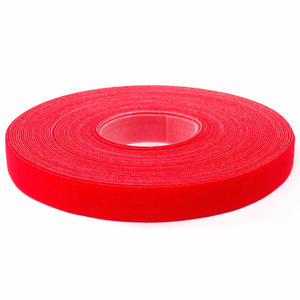 "VELCRO BRAND ONE-WRAP HOOK & LOOP TAPE FASTENERS RED 1/2"" X 15' by Industrial Webbing Corp."